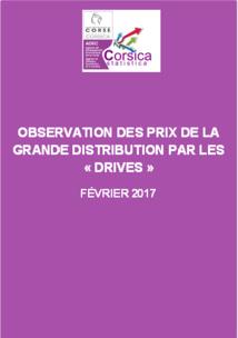 """Observation des prix de la grande distribution par les """"Drives"""" - Février 2017"""