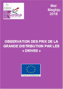 """Observation des prix de la grande distribution par les """"drives"""" - Mai 2018"""