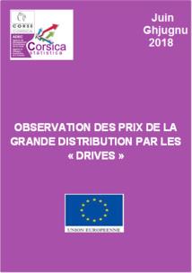 """Observation des prix de la grande distribution par les """"drives"""" - Juin 2018"""