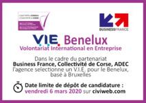 OFFRE DE MISSION 🌍[V.I.E Benelux] basé à Bruxelles ⏰Candidatez jusqu'au 6 mars