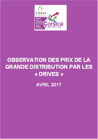 """Observation des prix de la grande distribution par les """"Drives"""" - Avril 2017"""