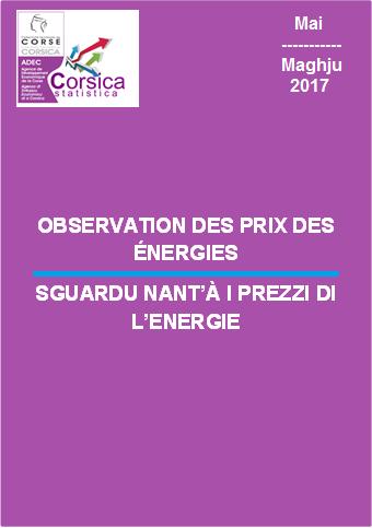Observation des prix des énergies - Mai 2017