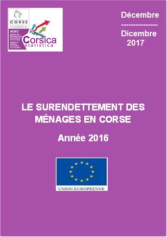 Le surendettement des ménages en Corse - Année 2016