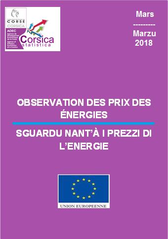 Observation des prix des énergies - mars 2018