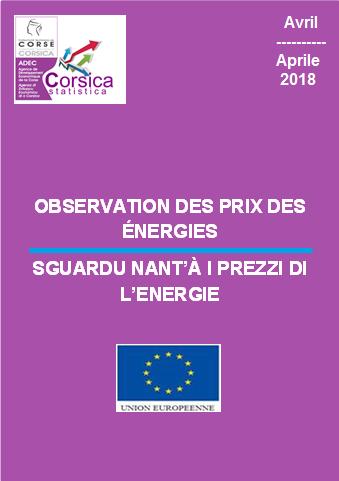 Observation des prix des énergies - Avril 2018