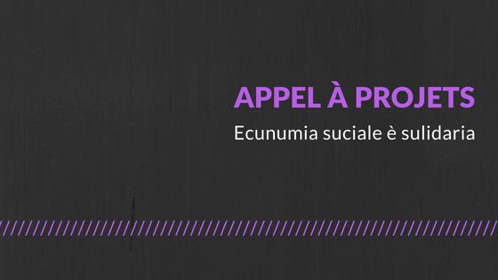 """Candidatez à l'appel à projets """"Ecunumia suciale è sulidaria"""""""