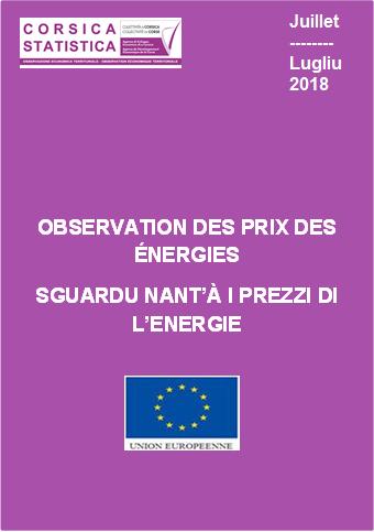 Observation des prix des énergies - Juillet 2018