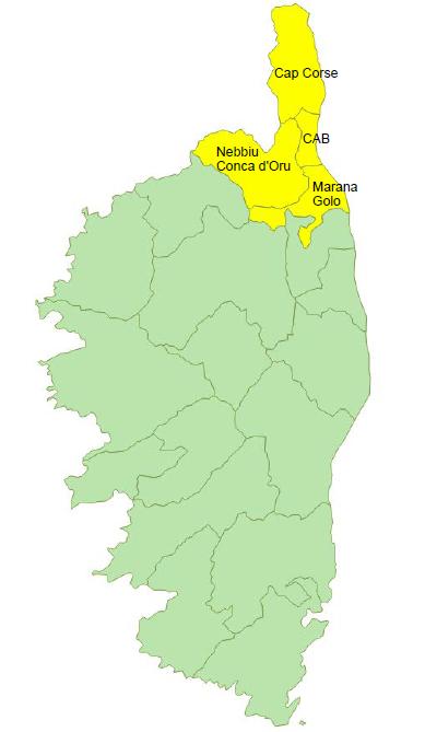Données de cadrage EPCI : Communauté d'Agglomération Bastiaise, Cap Corse, Marana - Golo et Nebbiu - Conca d'Oru