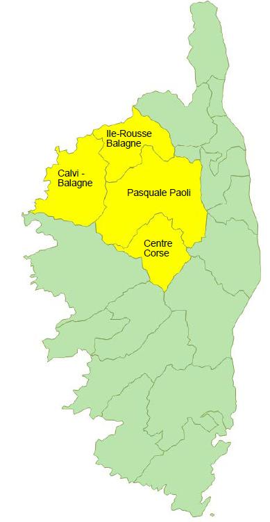 Données de cadrage EPCI : Calvi - Balagne, Centre Corse, Ile-Rousse - Balagne et Pasquale Paoli