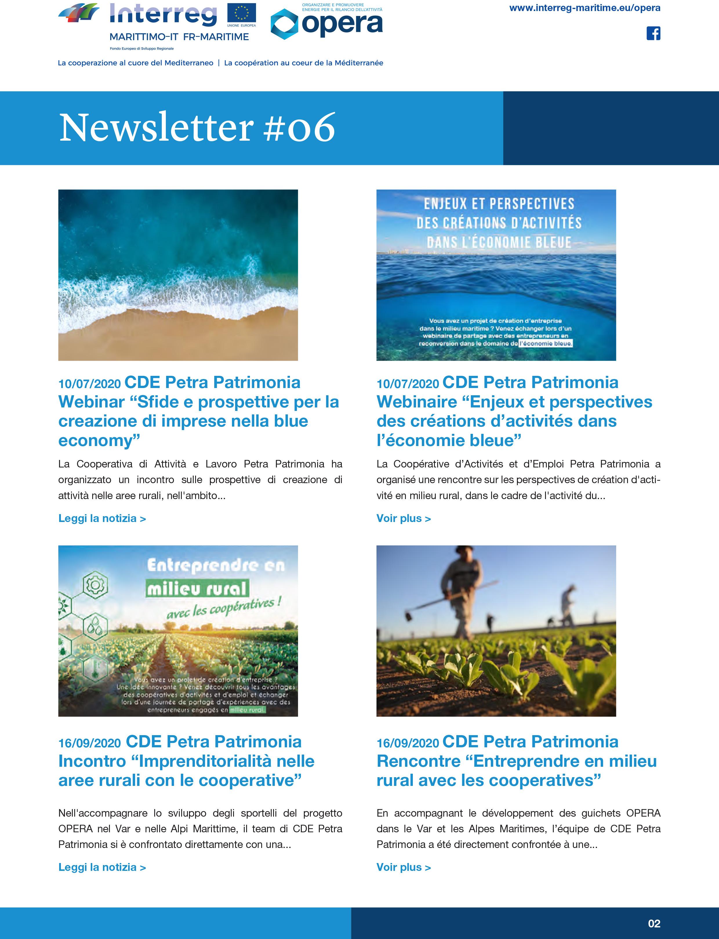 [Newsletter#6] 📑O.P.E.R.A. (Organizzare e Promuovere le Energie per il Rilancio della Attività)
