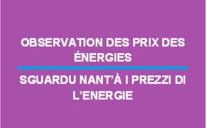 Observation des prix des énergies - Octobre 2017
