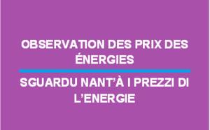 Observation des prix des énergies - Novembre 2017