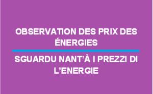 Observation des prix des énergies - Mai 2018