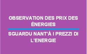 Observation des prix des énergies - novembre 2019