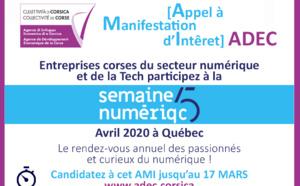 [📢 APPEL À MANIFESTATION D'INTÉRÊT] 📲[Semaine numériQC]  Québec Avril 2020