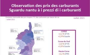 Observation des prix des carburants - Juillet 2021