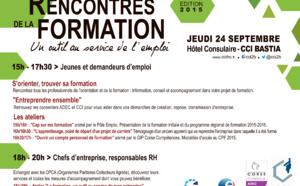 L'ADEC partenaire des Rencontres de la Formation, le 24 septembre à Bastia