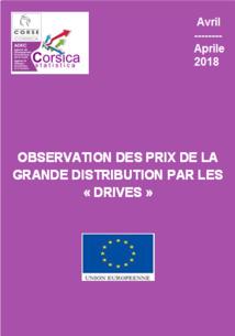 """Observation des prix de la grande distribution par les """"drives"""" - Avril 2018"""