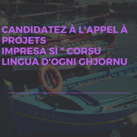 """Appel à projets Impresa sì """"Corsu, lingua d'ogni ghjornu"""""""