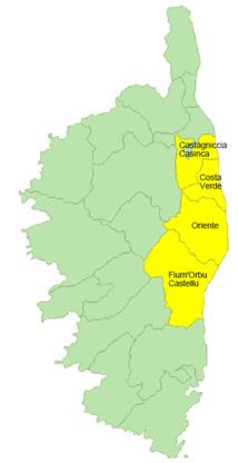 Données de cadrage EPCI  : Castagniccia - Casinca, Costa Verde, Fium'Orbu - Castellu et Oriente