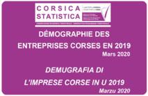 Démographie des entreprises corses en 2019