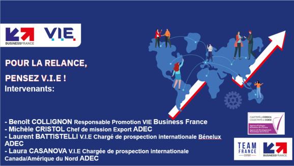 🌎Les RDV #ADEC à l'international : les solutions à l'export ! 💻WEBINAIRE [0] 📇27 Mai à 14h