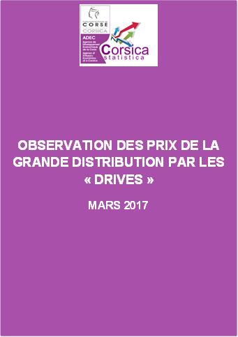 """Observation des prix de la grande distribution par les """"Drives"""" - Mars 2017"""