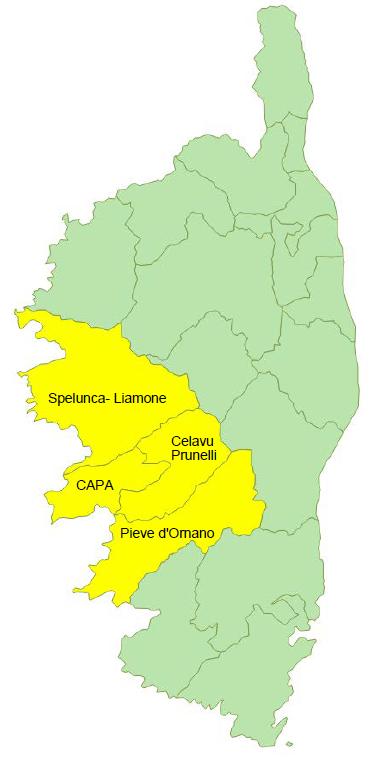 Données de cadrage EPCI : Communauté d'Agglomération du Pays Ajaccien, Celavu - Prunelli, Pieve d'Ornano et Spelunca - Liamone