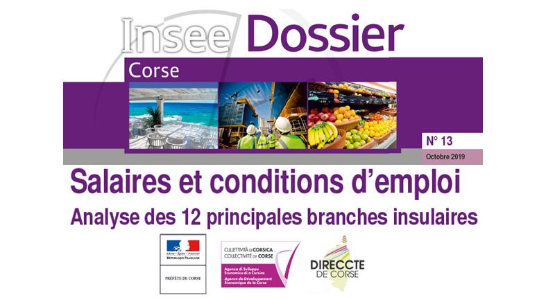 Salaires et conditions d'emploi - Analyse des 12 principales branches insulaires