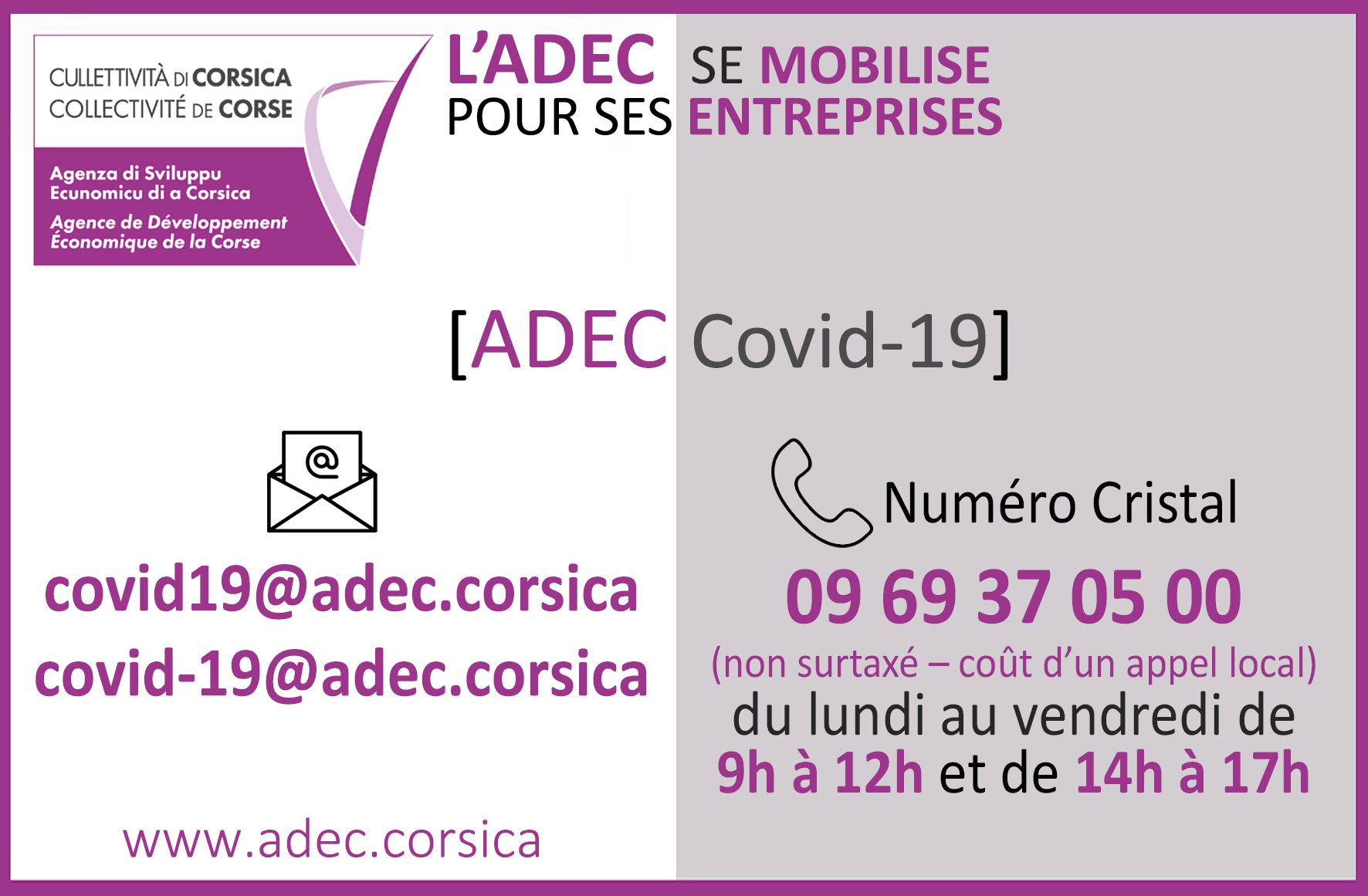 [Covid-19]📞0969370500 📧covid19@adec.corsica / covid-19@adec.corsica