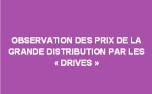 """Observation des prix de la grande distribution par les """"drives"""" - Mars 2018"""