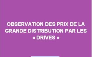 """Observation des prix de la grande distribution par les """"drives"""" - Juillet 2018"""