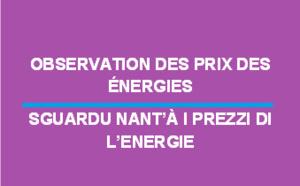 Observation des prix des énergies - Août 2019