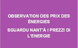 Observation des prix des énergies - septembre 2019