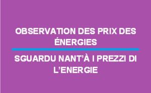 Observation des prix des énergies - octobre 2019