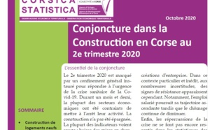 Conjoncture dans la Construction en Corse au 2e trimestre 2020
